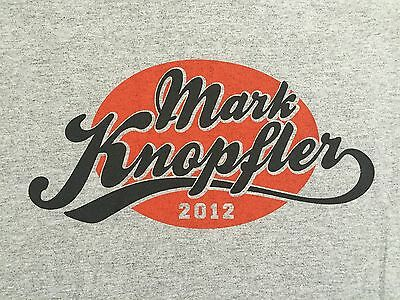 Mark Knopfler North American Tour 2012 Concert Shirt Medium Dire Straits