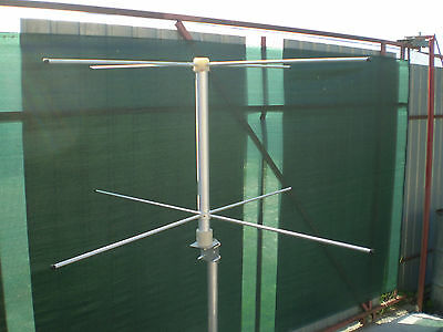 Base  antenna turnstile crossed dipole RHCP NOAA 137  BNC connector 2x2 element