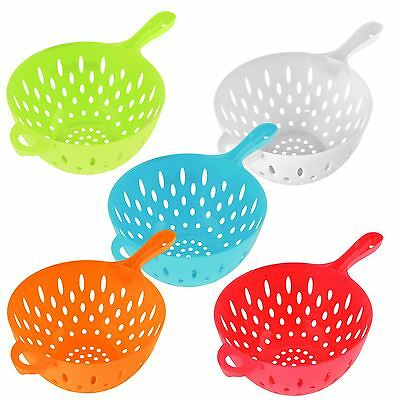 One Handed Colander Plastic Drain Strain Salad Pasta Kitchen Dishwasher Safe