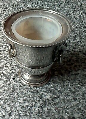 Silver plated 3in posy vase/urn