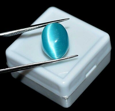 8.05Ct Natural Oval IGL Certified Blue Cat's Eye Loose Gemstone INDEPENDENCE DAY