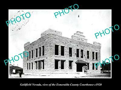 OLD LARGE HISTORIC PHOTO OF GOLDFIELD NEVADA, THE COUNTY COURTHOUSE c1920