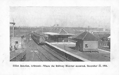 Elliot Junction, Arbroath - where the railway disaster occurred December 28 1906