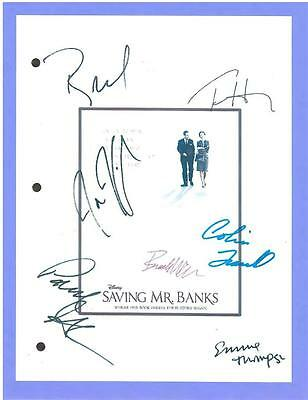 Saving Mr. Banks Script Signed Emma Thompson  Tom Hanks  Jason Schwartzman