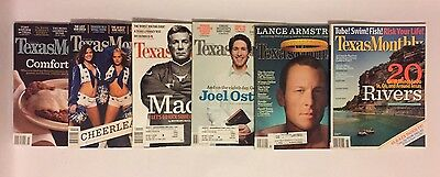 Lot Of 10 Texas Monthly Magazines 2005