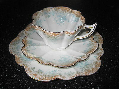 Wileman Foley China pre ShelleyTrailing Daisies ivy pattern Snowdrop 9 Pieces
