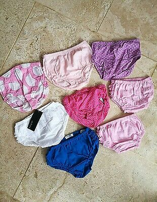 VGC + NEW Boden M&S knickers pants 8 piece set 6-18 months
