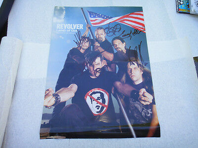 LAMB OF GOD AUTHENTIC AUTOGRAPHED SIGNED POSTER photo picture burn the priest