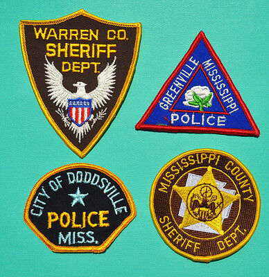 Mississippi Police Sheriff Patches Greenville Police Warren Mississippi County