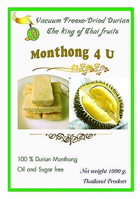 1000 g. Thai Durian Monthong Freeze-Dired 100% Real Durian Oil and Sugar free