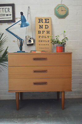 Vintage Mid Century Chest of 3 Drawers Sideboard Cabinet