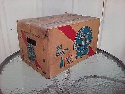Pabst Blue Ribbon Beer Bottle Case Crate Vintage 1973