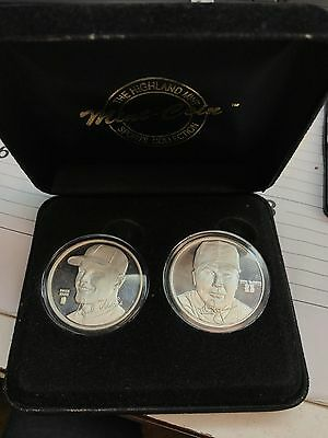 Roger Maris / Mark McGwire 2 Coin One Troy Once Silver HR Heroes Set #173