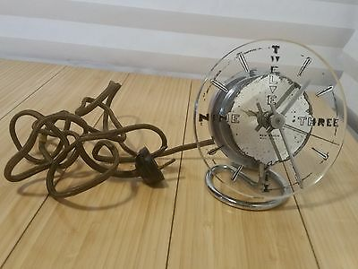 Extremely Rare New Haven Chrome Glass Electric Clock N.H.S. 611-239T