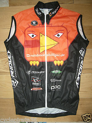 BNWOT Vermarc Team notebooksbilliger.de cycling windvest. full zip. Small.