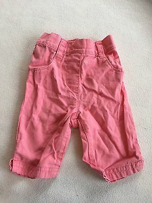 Baby Girls Clothes 3-6 Months - Pretty Next 3/4 Trousers -