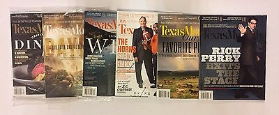 Lot Of 2014 Texas Monthly Magazines