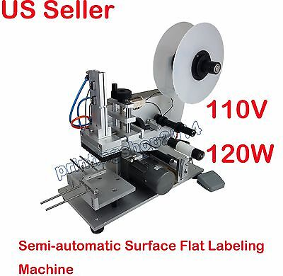 110V Semi-automatic Pneumatic Plane Flat Surface Labeling Labelers Equipment