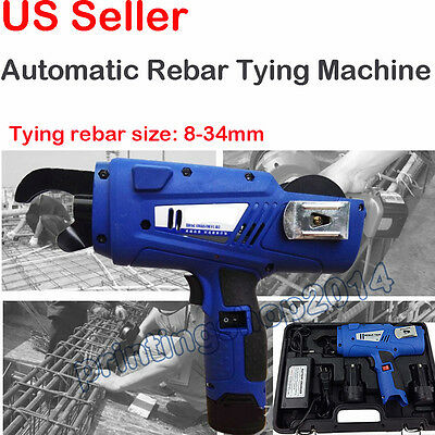 Portable Rechargeable Automatic Rebar Tying Machine Steel Bar Rod Binding Tool