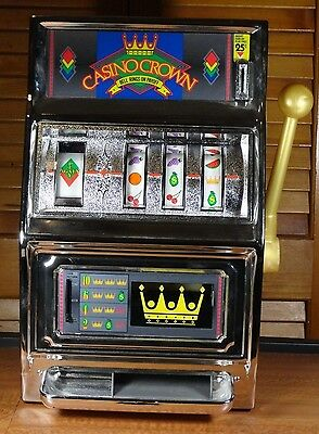 Antique Casino Crown Slot Machine Bell Rings On Pay Off