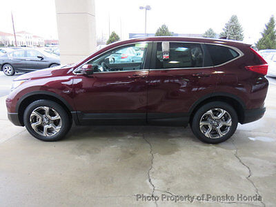 2017 Honda CR-V EX-L AWD EX-L AWD New 4 dr SUV CVT Gasoline 1.5L 4 Cyl Basque Red Pearl II