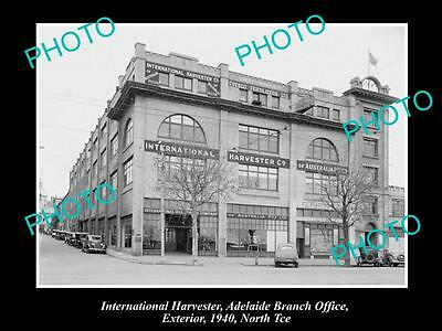 OLD HISTORIC PHOTO OF INTERNATIONAL HARVESTER ADELAIDE OFFICE BUILDING c1940