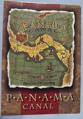 Panama Canal Map Unused Postcards