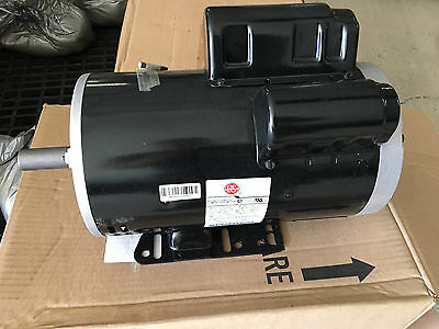 US Motors 5hp/230V/22A/3450rpm/56 frame compressor motor Husky,etc Replacement
