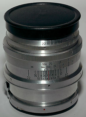 WWII collectible Carl Zeiss Sonnar 8.5cm 2.0 coated lens for Contax RF camera