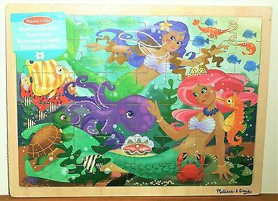 MELISSA & DOUG : MERMAID FANTASEA - 48 piece wooden Jigsaw Puzzle, 4+ NEW/SEALED