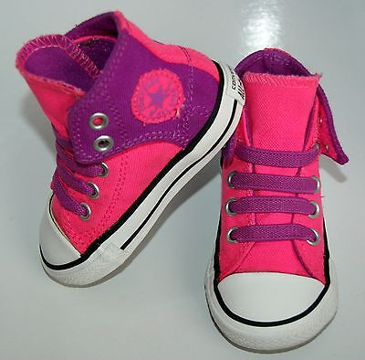 Baby Girls Pink Converse Size Infant uk 5