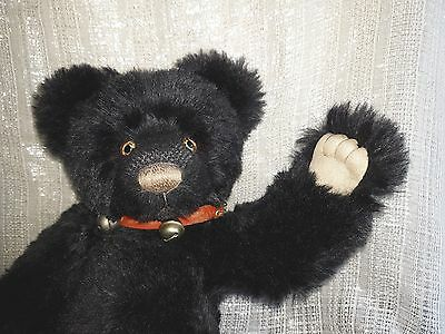 """Mohair Charlie Bear """"Jet"""" Now Retired by Isabelle Lee"""