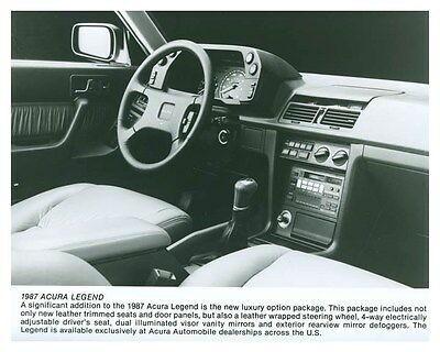 1987 Acura Legend Interior Automobile Factory Photo ch5746