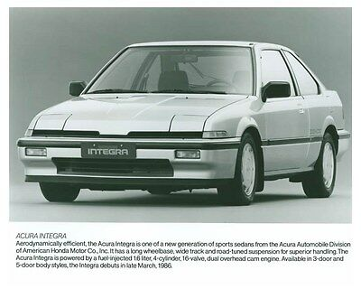 1986 Acura Integra Automobile Factory Photo ch5720