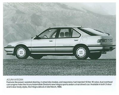 1986 Acura Integra Automobile Factory Photo ch5718