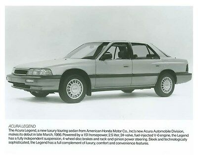 1986 Acura Legend Automobile Factory Photo ch5710