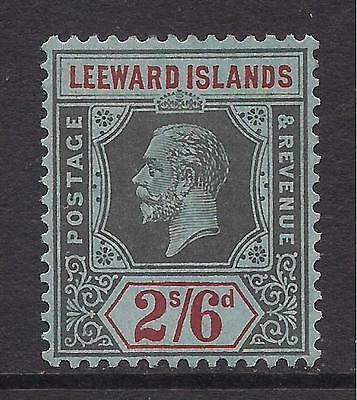 LEEWARD ISLANDS  1923  2s6d black & red on blue  SG75  MM