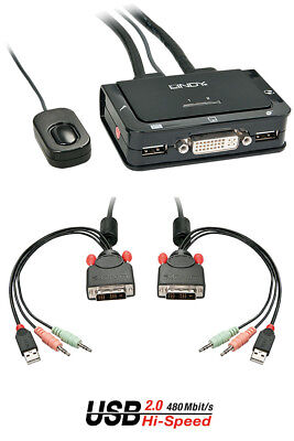DVI KVM Switch Compact USB 2.0 Audio 2 Port/42341/Lindy