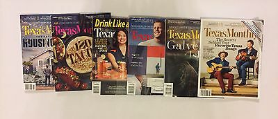 Lot Of 11 Texas Monthly Magazines 2015