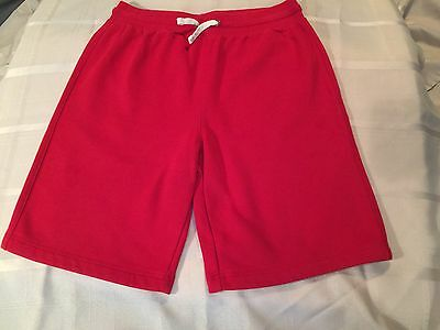 Lands End Kids Size XL Boys Pull On Sweat Shorts DRAWSTRING RED