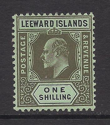 LEEWARD ISLANDS  1911  1s black on green  SG43  MM