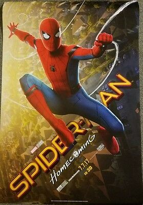 **New** SPIDERMAN HOMECOMING Final Authentic Rolled 27x40 D/S Movie Poster.