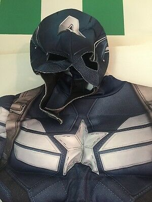 Boys Captain America Halloween Costume Medium M 8 10 Muscles Winter Soldier Mask