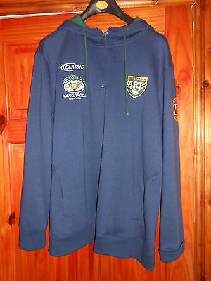 Australia Kangaroos Player Worn Rugby League Hoodie. LARGE. Rare. LUKE LEWIS.