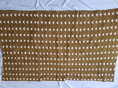 "Authentic African Handwoven Bambara Mudcloth Fabric From Mali Size 63"" x 39"""