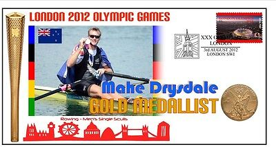 Mahe Drysdale 2012 Olympic Nz Rowing Gold Medal Cover 1