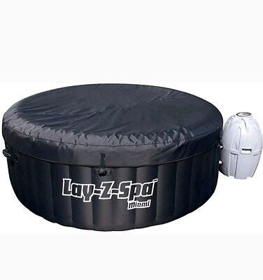 Lay Z Spa Miami Portable Inflatable Hot Tub Jacuzzi Lazy 4 to 6 persons