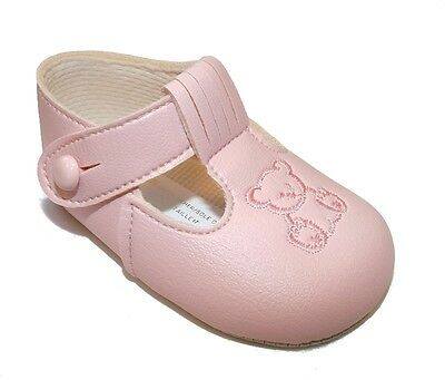 Traditional Romany Spanish Style Pink Teddy Bear Soft Soled Shoes by Baypods