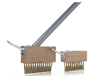 Langdon's Path Weed Clearing 2 Dual Function Steel Brush Heads Extendable Pole