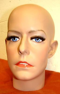 custom mannequin head/face of Farrah Fawcett, with makeup included many options